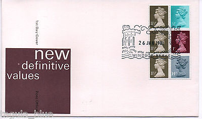 GB Stamps 26-1-1981 Definitive Booklet pane First Day Cover sgX841t