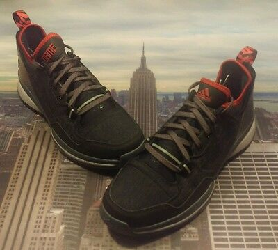 newest 9bf51 059f2 ... Adidas D Damian Lillard 1 Black Onyx-Scarlet Size 11.5 S85492 New Dame  Rip factory ...