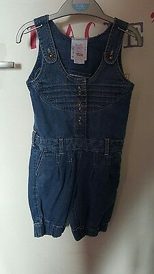 girls denim jumpsuit age 3-4
