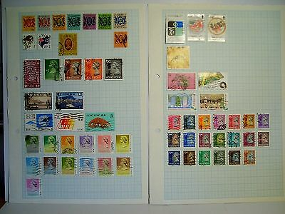 2 pages Hong Kong. used stamps.