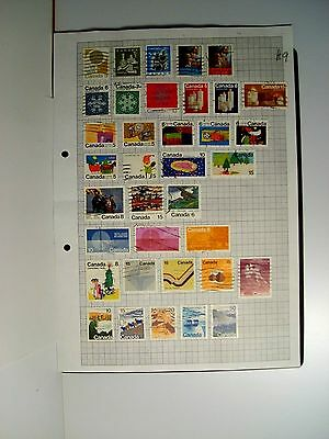 4 pages Canada used stamps.
