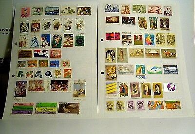 2 pages of Australian stamps all used.