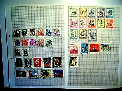 3 pages of Austria used stamps.