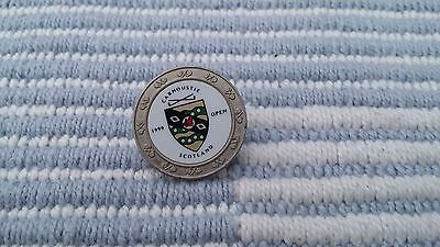 1999 Open Championship Ball Marker Issued By Carnoustie Golf Club
