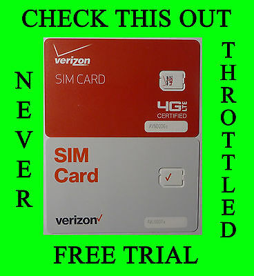 Verizon Wireless Unlimited 4G LTE Data Plan Rental – NEVER Throttled  Free Trial