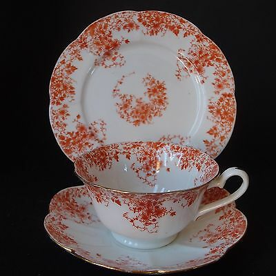 Antique Wileman Foley pre Shelley Trio 5657 Fluted Shape Cup Saucer Plate