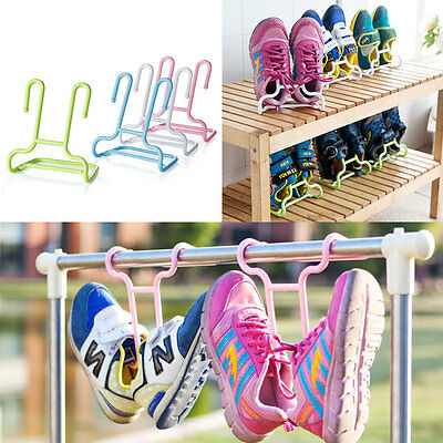 2pcs Balcony Drying Child Shoe Rack Holder Storage Space-Saver Laundry