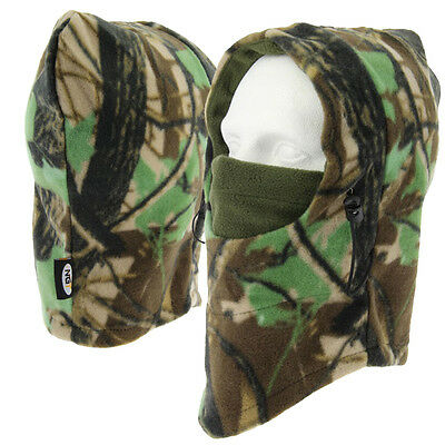 NGT Deluxe Camo Snood Face Mask with Face Guard for Cold Weather Fishing Camping