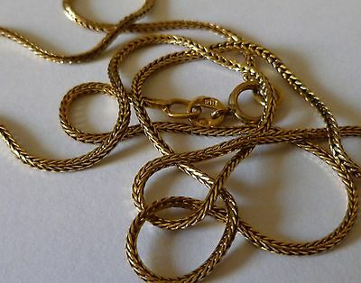 18Ct 18K Carat 750 Solid Gold 17 Inch Foxtail Link Chain Necklace 4G Scrap?