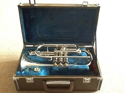 Pre owned Yamaha YCR 233s Silver Plated Cornet With Mouthpiece In Case