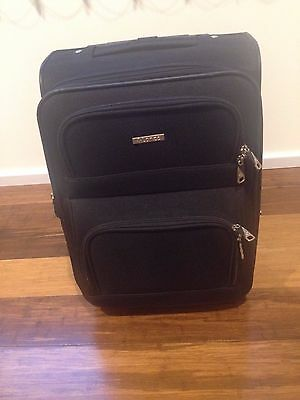Lanza carry on black suitcase