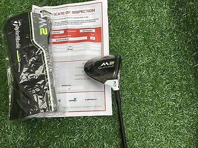 New Taylor Made M2 3 Wood 15 Degree Hzrdus 6.0 Stiff Shaft In Wrapper Pro Shop