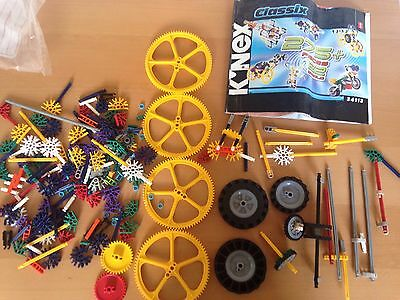 Knex Wheels/ Large Gears Etc And Large Instruction Booklet