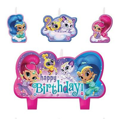 Shimmer and Shine Birthday Candle Set Girls Cake
