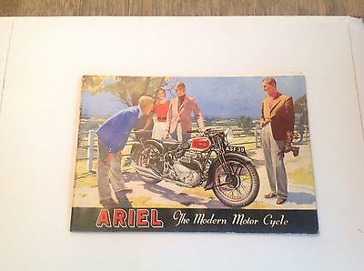 Ariel motor cycle brochure 1939 The Modern Motor Cycle. Rare.