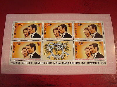 Grenada - 1973 Royal Wedding - Minisheet - Umm - Excellent Condition
