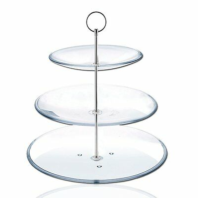 8 Sets 3 Tier Cake Plate Stand Handle Fittings silver for Tea Shop Room Hotel Y7