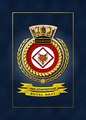 Hms Atherstone Ships Badge/crest - Hundreds Of Hm Ships In Stock
