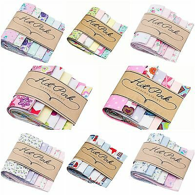 "50 x 5"" Patchwork Fabric Charm Packs Quilting Squares. Machine Cut! 14 Designs!"
