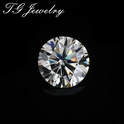 Round 6.5 mm Hearts and Arrows Loose Moissanite = 1.00 CT Dia. w/Cert. with Case