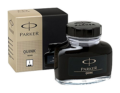 PARKER QUINK Ink Bottle, Black, 57 ml - Free 2 Day Shipping