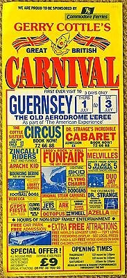 1993 Gerry Cottle Carnival Circus Poster