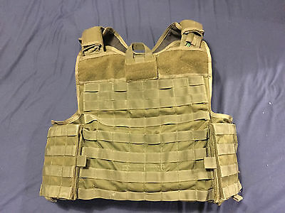 Warrior assault systems plate carrier chest rig molle olive green