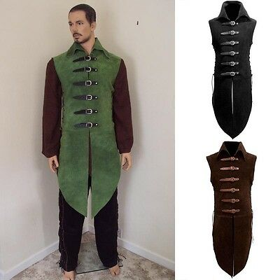 Suede Collared Jerkin - Fully Adjustable - Perfect for Re-enactment Costume LARP