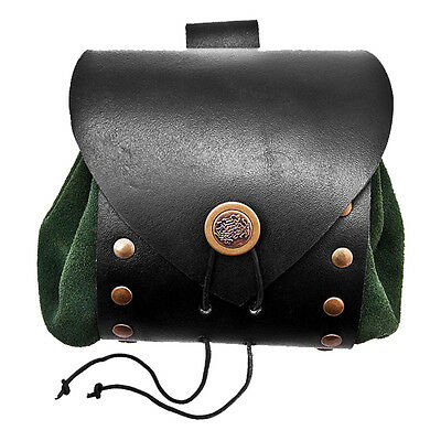 The Deluxe Riveted Leather Medieval Bag - Perfect For Re-enactment Stage or LARP