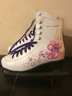 Women's Ice Skates White  Size 6  Worn Once, Excellent Condition