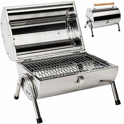 Barbecue grill en inox charbon bois barbecue tonneau table camping pique-nique