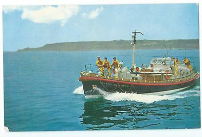 St Mary's Isles Of Scilly Lifeboat Guy And Clare Hunter Vintage Postcard, 1973