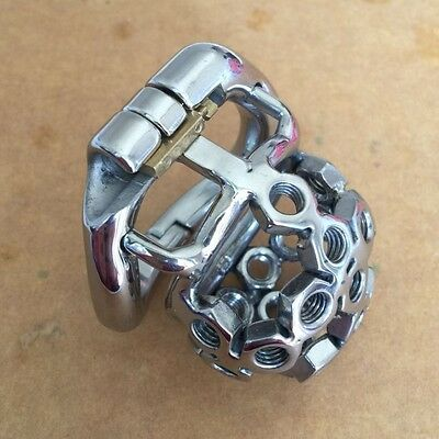 2017 New Stainless Steel THE NUTS Male Chastity Device