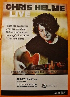 Chris Helme Live - Large Flyer - From Theatre Severn In Shrewsbury, May 2016