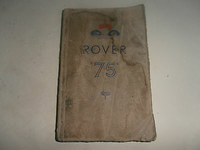 ROVER 75 hand book 90 110 instruction manual