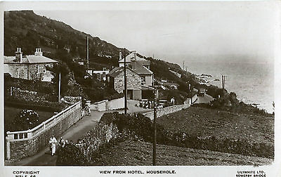 1920s Postcard View from The Old Coastguards Hotel MOUSEHOLE Cornwall