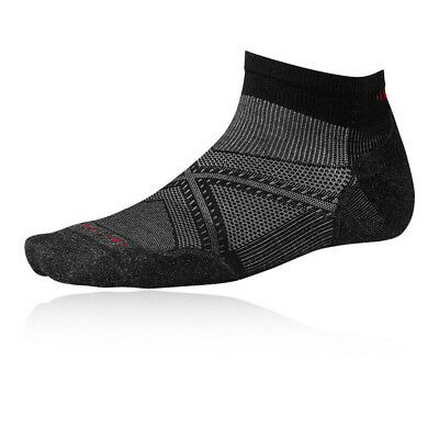 Smartwool PhD Run Elite Low Cut Mens Black Running Athletic Anklet Socks