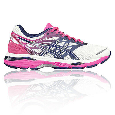 Asics Gel Cumulus 18 Womens White Cushioned Running Road Shoes Trainers