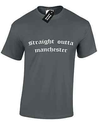 Straight Outta Manchester Mens T Shirt Compton Parody North Ice Dre Gift