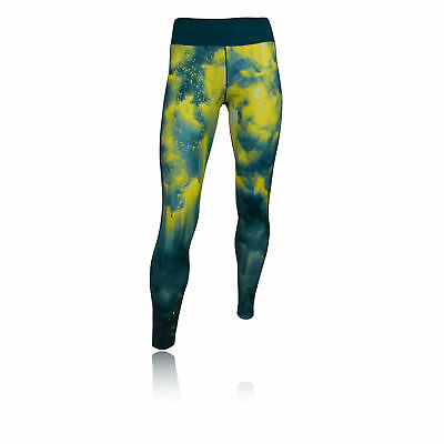 Adidas WOW Womens Blue Climalite Training Long Tights Sports Bottoms Pants