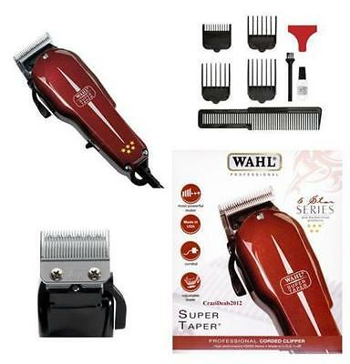Wahl Professional Super Taper Hair Clipper Corded High Performance V5000 Motor