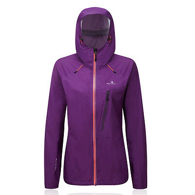 Ronhill Trail Torrent Womens Purple Waterproof Running Zip Hooded Jacket
