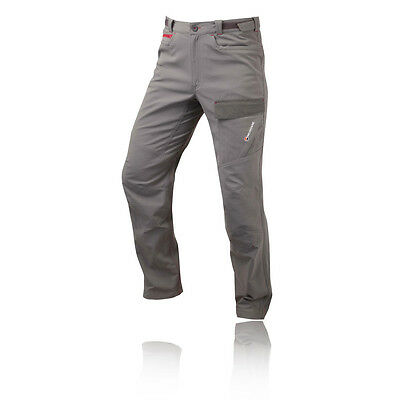 Montane Psycho Vertical Mens Grey Water Resistant Outdoors Long Pants Bottoms