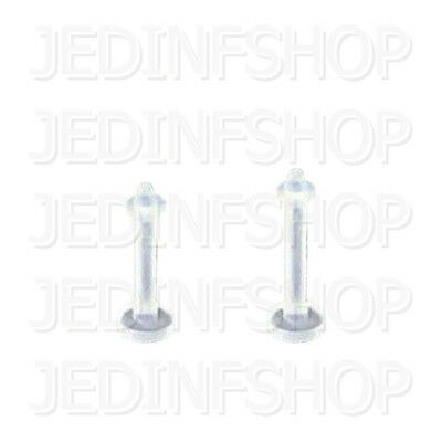 Retainer - Labret Lip Stud - 1.2mm (16g) - 8mm 10mm + O-Ring - Flexible Acrylic