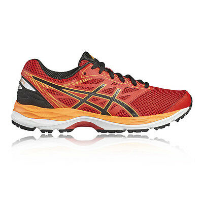 Asics Gel Cumulus 18 GS Junior Boys Red Cushioned Running Road Shoes Trainers