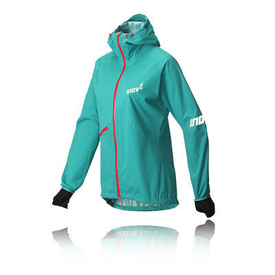Inov8 AT/C Raceshell Womens Green Waterproof Full Zip Hooded Jacket Top