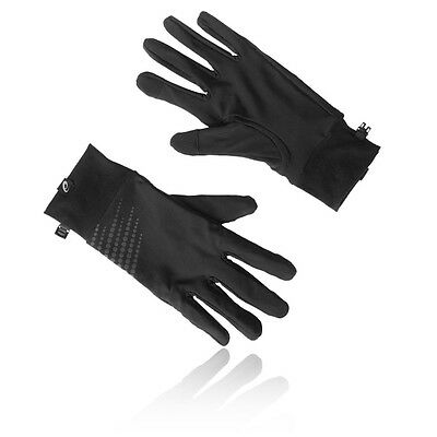 Asics Performance Mens Black Winter Warm Athletic Running Sports Gloves