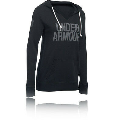 Under Armour Favorite Popover Womens Black Outdoors Warm Long Sleeve Hooded Top