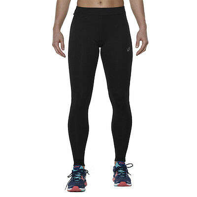 Asics Essentials Womens Black Running Sports Long Tights Bottoms Pants