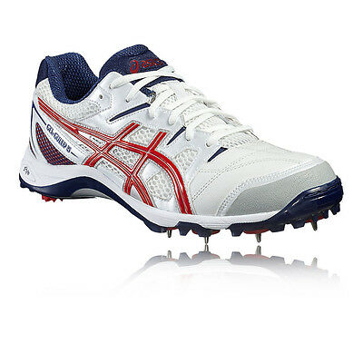 ASICS Gel Gully 5 Mens White Cricket Studs Shoes Athletic Shoes Trainers